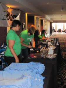 Amazing Fitbloggin13 Staff working hard at registration