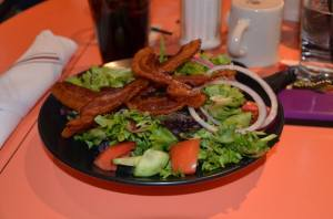 UpTown Cafeteria My Salad with Bacon