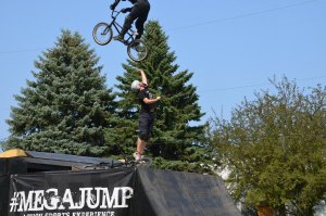 Jump over person Standing from #MegaJump Washington County Fair