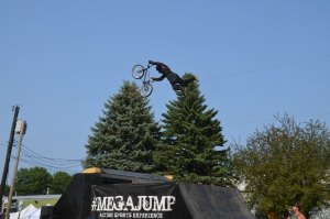 Rider doing a Superman during #megaJump at Washington County Fair