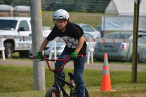 Young BNX rider from #MegaJump Washington County Fair